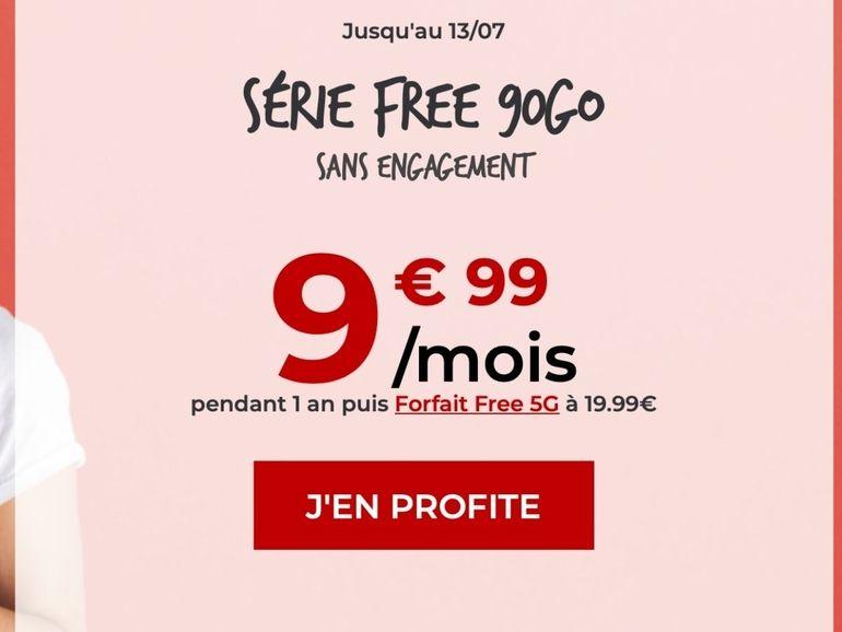Free Mobile lance un forfait 90 Go à 9,99 euros par mois