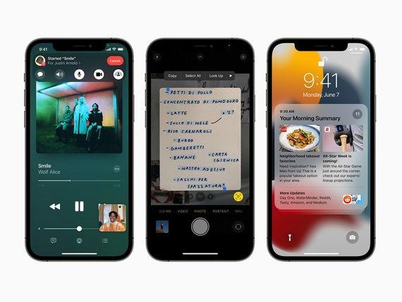 iOS 15 : certaines fonctions seront réservées aux iPhone les plus récents