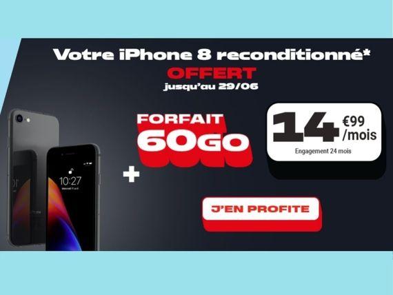 Promo smartphone : NRJ Mobile vous offre un iPhone 8 avec son forfait 60 Go à 14,99 euros