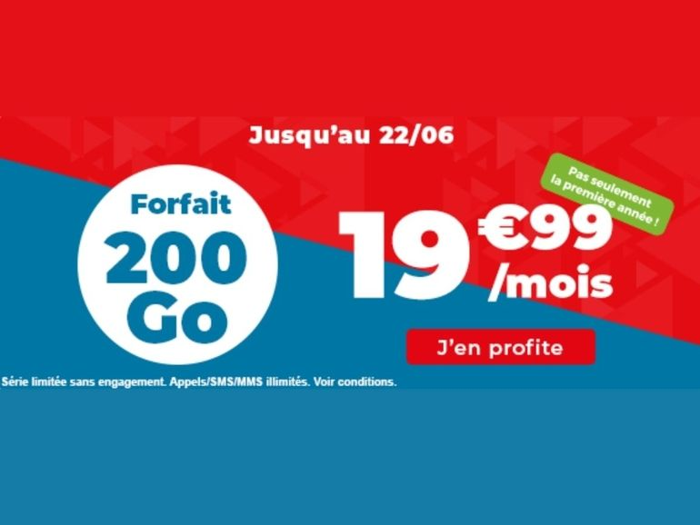 Bon plan forfait mobile: 200Go à 19,99€ par mois chez Auchan Telecom
