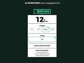 Promo SFR : le forfait BIG RED avec jusqu'à 200 Go pour 15€ est de retour