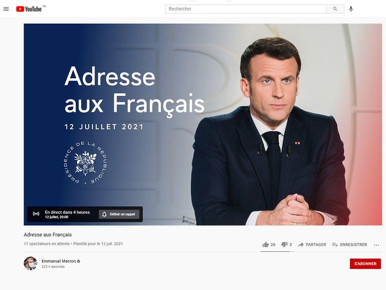 Comment voir l'allocution d'Emmanuel Macron sur YouTube ou Internet ce 12 juillet à 20h