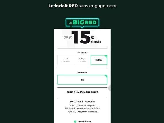 Retour des forfaits BIG RED : jusqu'à 200 Go, à partir de 12€ et le réseau de SFR