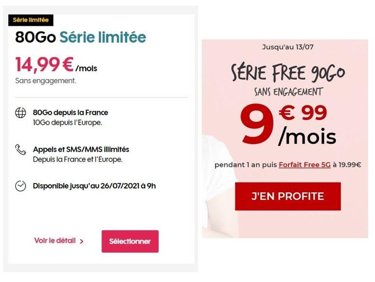 Forfait mobile : 80 Go chez Sosh ou 90 Go chez Free Mobile ?