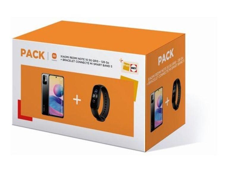 Le pack Redmi Note 10 5G (128 Go) + Mi Band 5 à moins de 220€ chez Fnac
