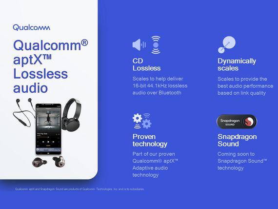Qualcomm lance l'AptX Lossless et promet un flux audio Bluetooth sans perte