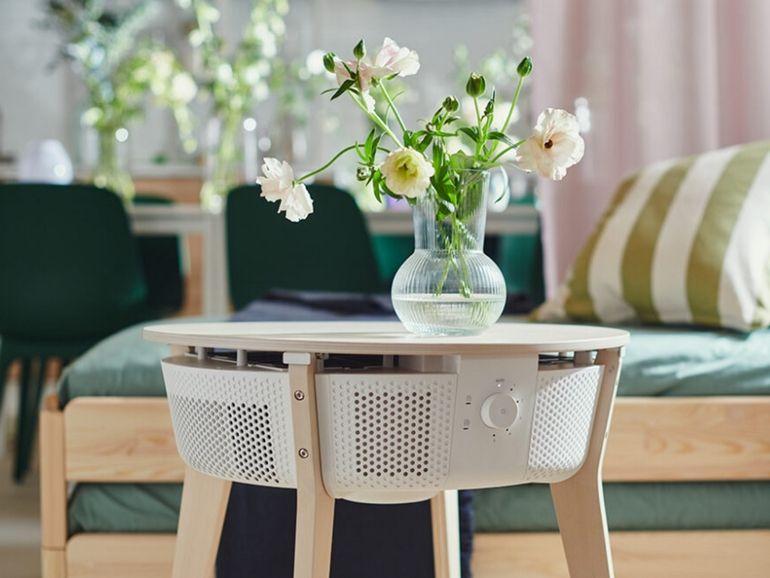 IKEA lance un purificateur d'air connecté qui se mue en table basse