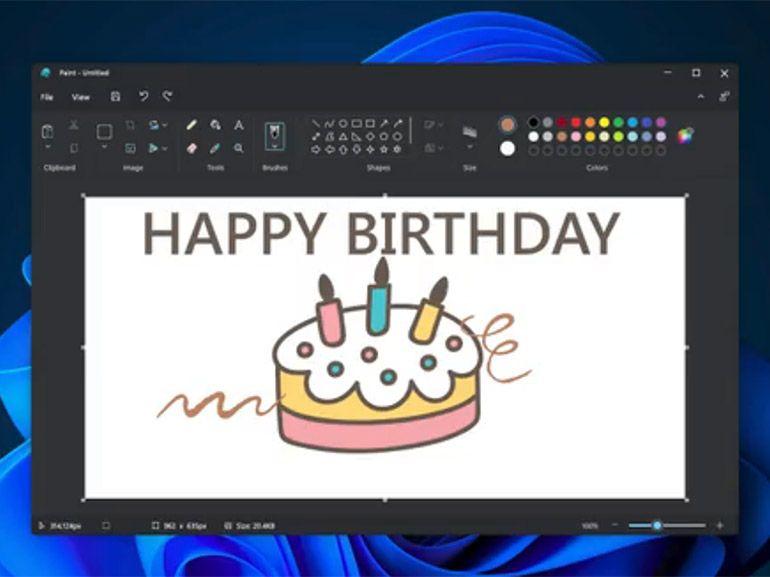 Windows 11 : un mode sombre pour MS Paint et une nouvelle interface utilisateur