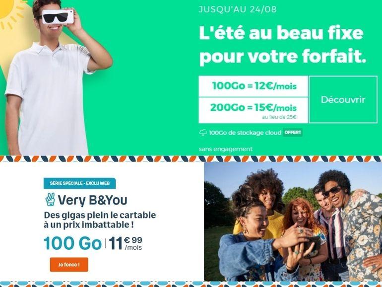 Forfait mobile : jusqu'à 200 Go, à partir de 5 euros, c'est le retour des promos RED by SFR et B&You