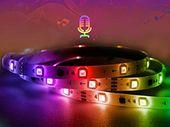 Un ruban LED de 12m qui suit le rythme de la musique à 27,49€