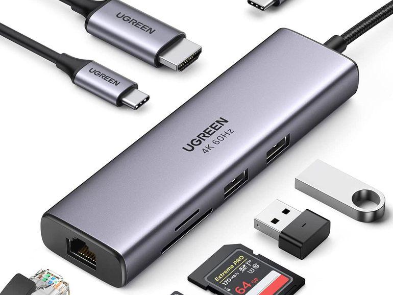 Un hub USB-C 7 en 1 compatible 4K et Power Delivery 100W à 37,99€ (-5€)