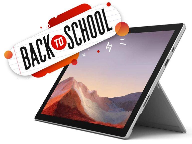 La Microsoft Surface Pro 7 Core i5 128 Go à 849€ (-21%) ou 764€ pour les étudiants (-28%)