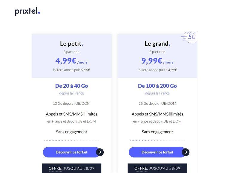 Plus que quelques heures pour profiter des forfaits Prixtel 4G/5G à partir de 4,99€/mois