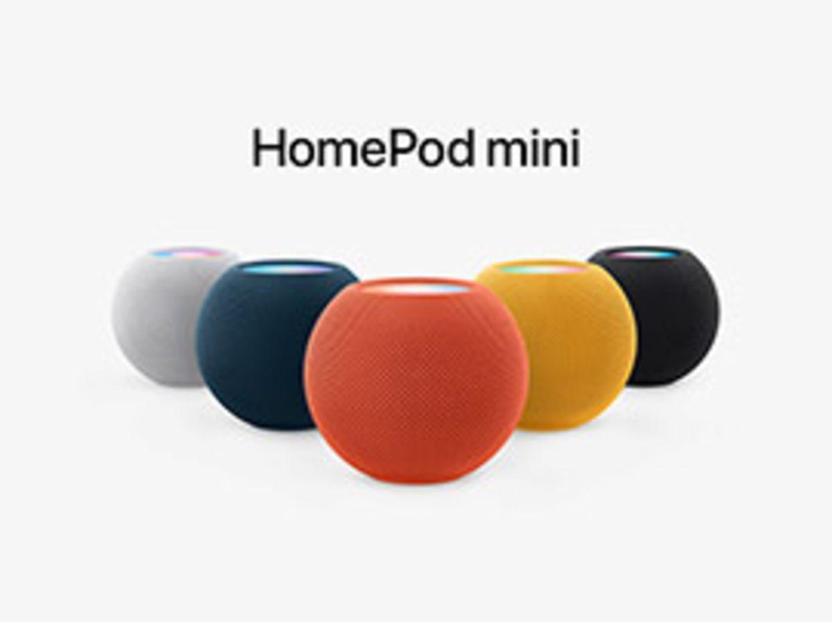 Apple ajoute trois nouvelles couleurs à son enceinte HomePod Mini