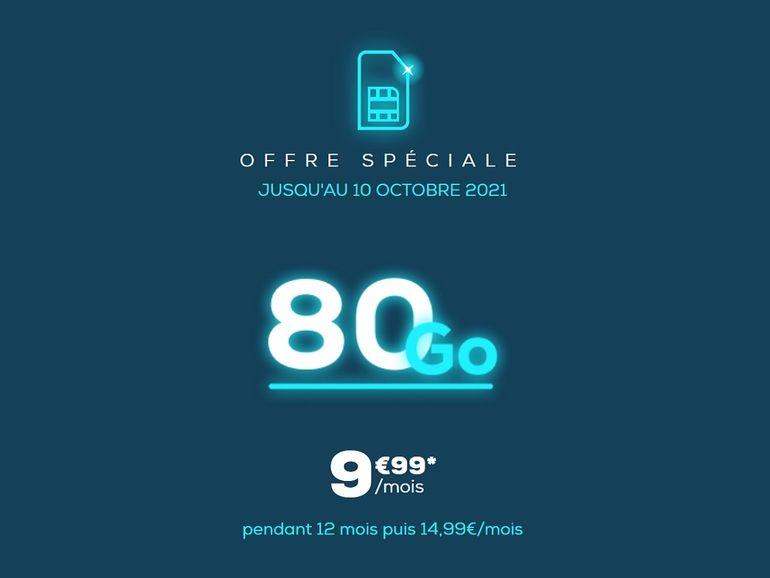La Poste Mobile : le forfait 80 Go est à moins de 10€/mois