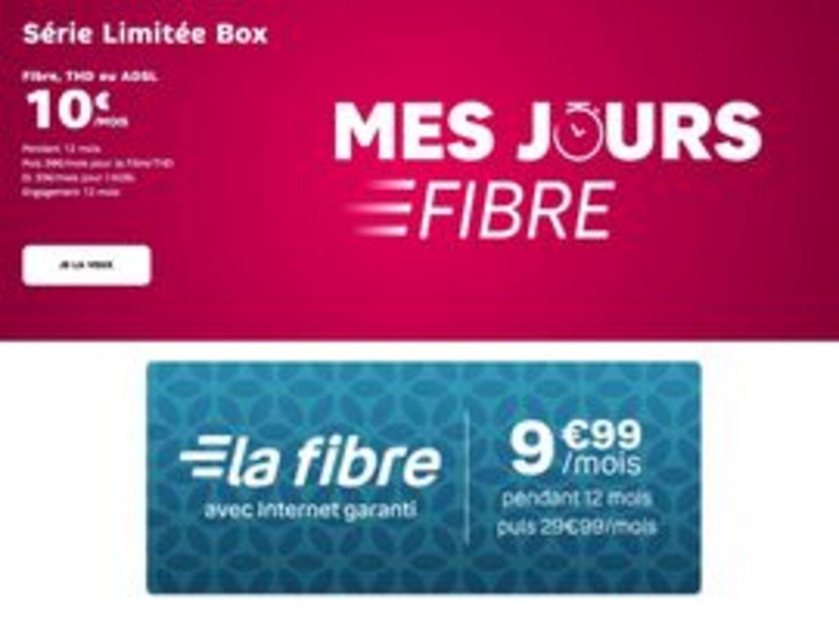 La fibre à 10€ : SFR ou Bouygues, quel est le meilleur forfait internet à petit prix ?