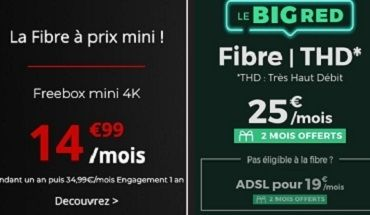 Forfait Box fibre : RED ou Free, lequel choisir avant ce soir ?