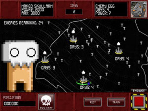 Naked Skullman ! Attack of the Evil Egg Assembly