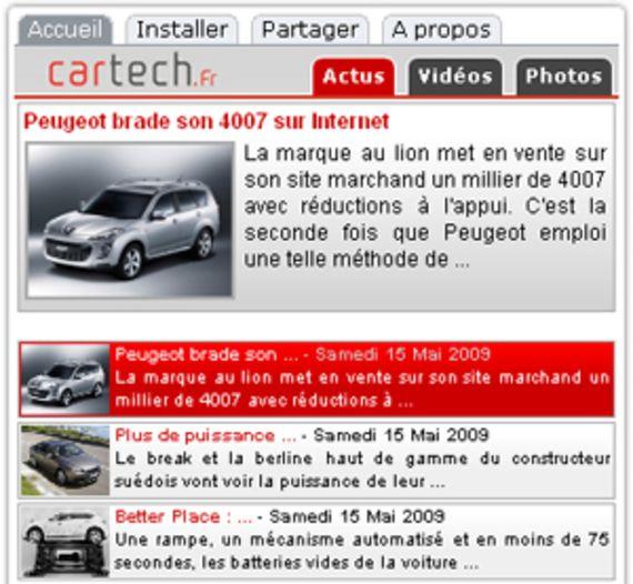 Widget CarTech.fr (pour Adobe Air)