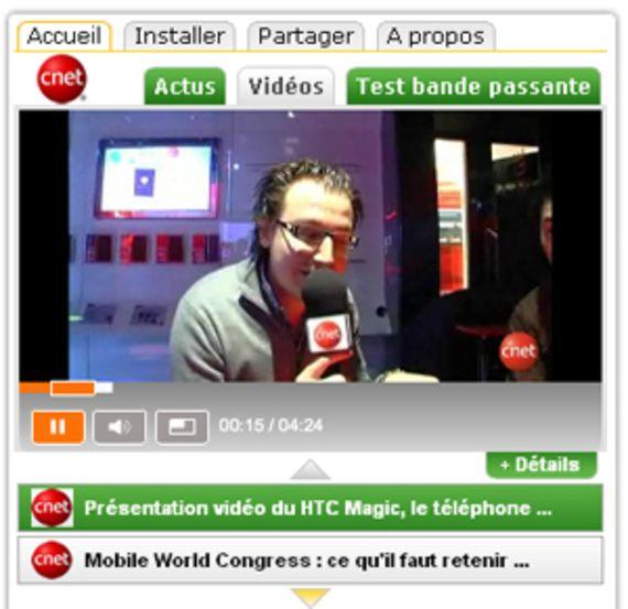 Widget CNETfrance.fr (pour Adobe Air)