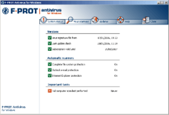 F-PROT Antivirus pour Windows