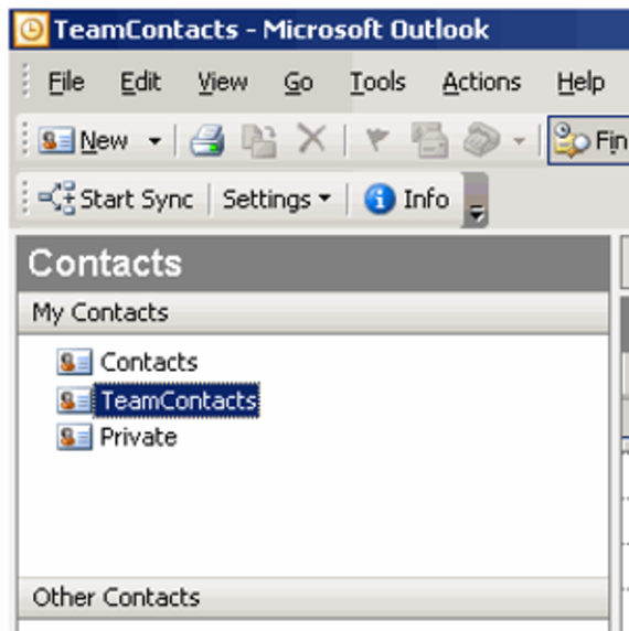 TeamContacts for Outlook