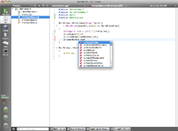 Qt Creator (Mac OS X)