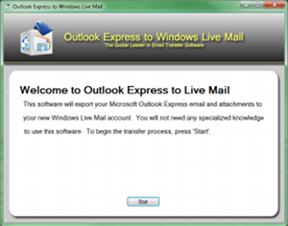 Outlook Express to Windows Live Mail