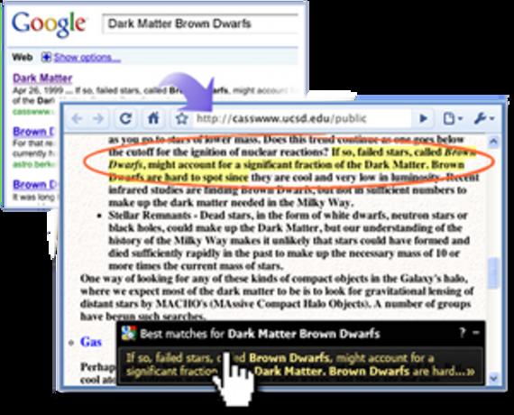 Google Quick Scroll pour Chrome