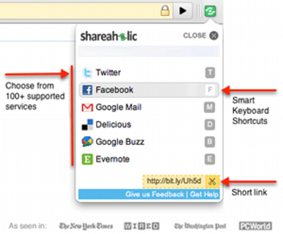 Shareaholic pour Chrome