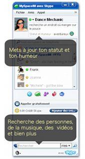 MySpace IM avec Skype