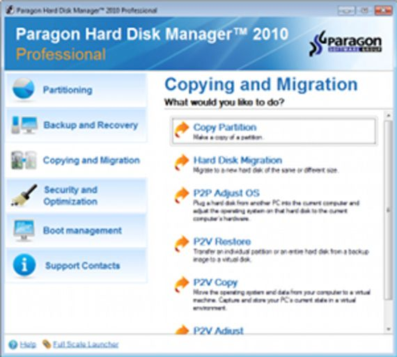 Paragon Hard Disk Manager (2010 Home)