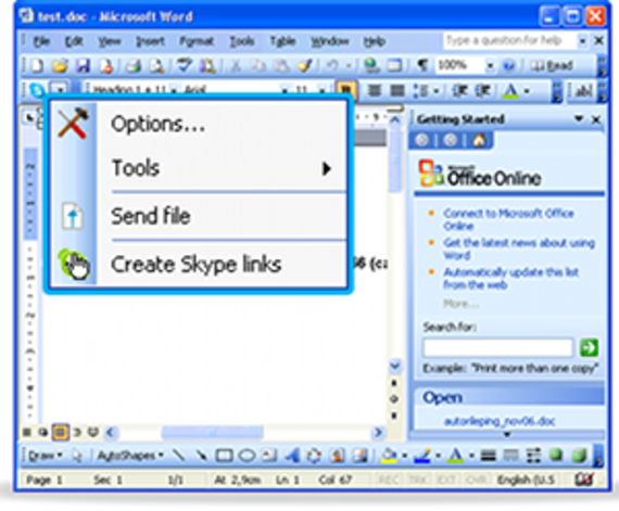 Skype Toolbar pour Office