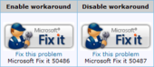 Rustine Microsoft Fix it 50486 (faille icônes)