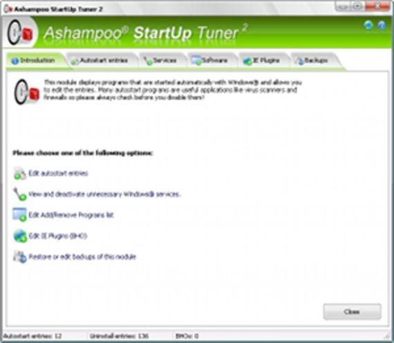 Ashampoo StartUp Tuner