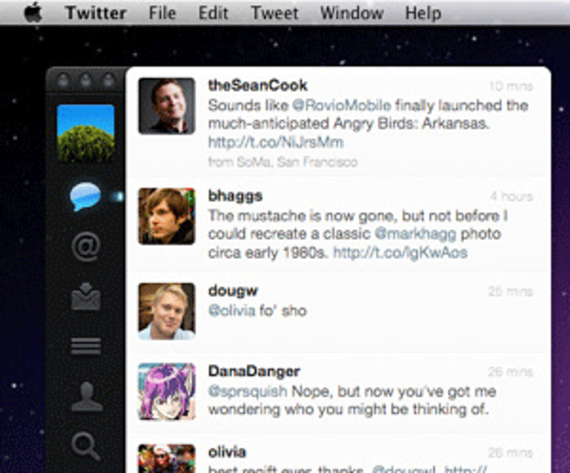 Twitter pour Mac (Tweetie)