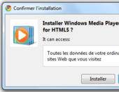 Extension Windows Media Player HTML5 pour Chrome