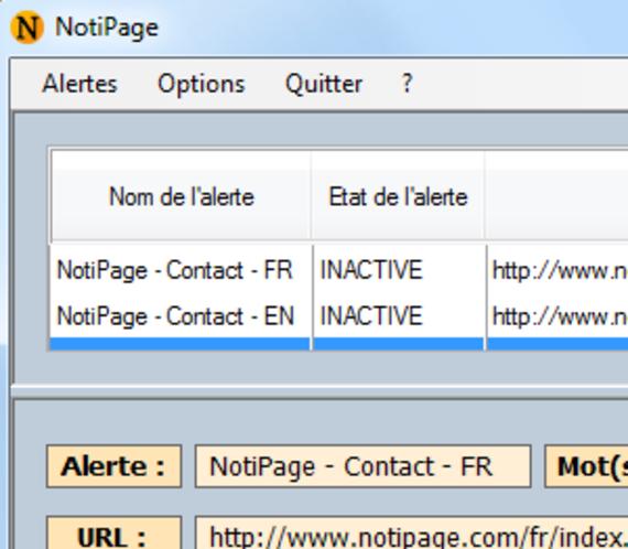 Notipage
