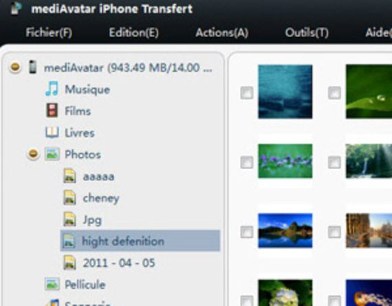 iPhone Transfert