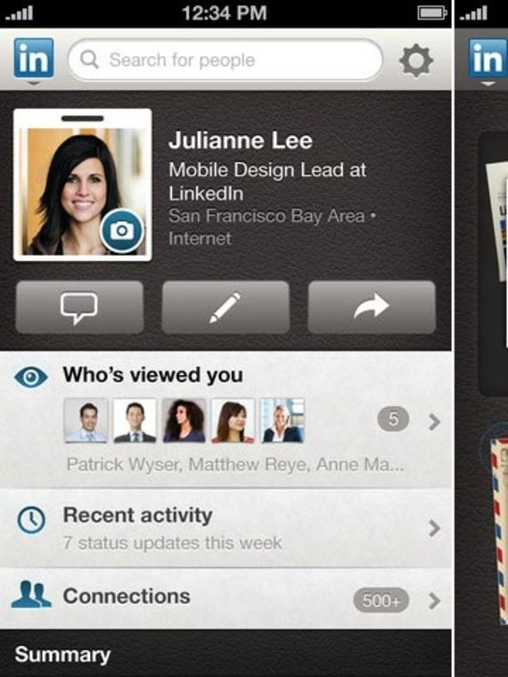 Linkedin iPhone ou iPad