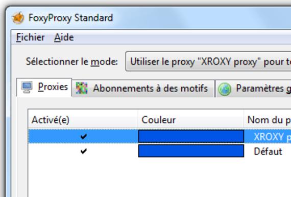 Foxy Proxy pour Firefox