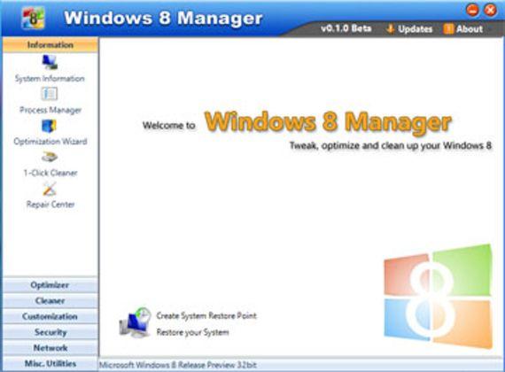 Windows 8 Manager (Bêta)