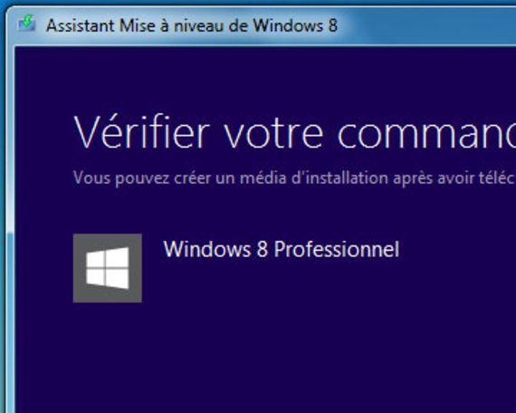 Assistant de mise à niveau Windows 8
