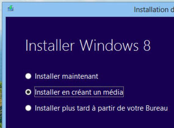 Outil de téléchargement du DVD d'installation Windows 8