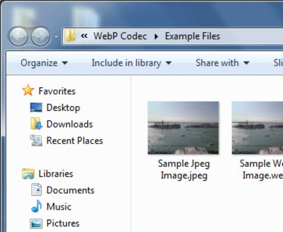 WebP Codec pour Windows