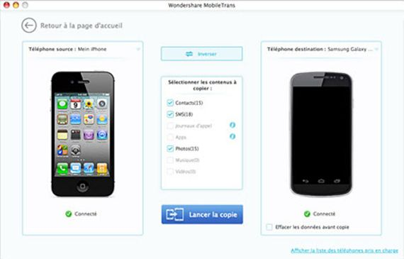 MobileTrans pour Mac OS