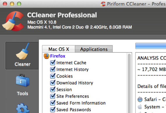 CCleaner pour Mac