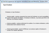 Outil de suppression des logiciels malveillants Microsoft Windows