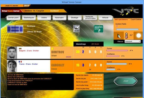 Virtual Tennis Carreer 2015