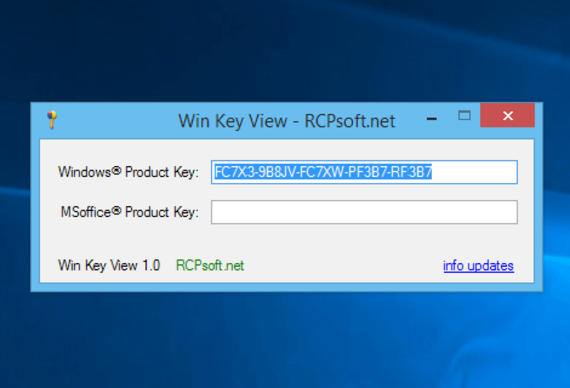 Win Key View